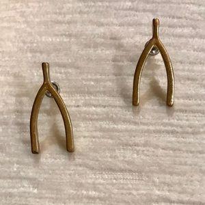 NWT Wishbone Earrings ♠️Kate Spade lookalike